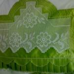 fıstık yeşili ipekli pike takımı modeli