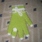 fıstık yeşili yüzüklü eldiven lif modeli