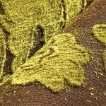 fıstık yeşili yaprak desenli döşemelik kumaş modeli