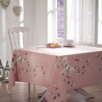 gül kurusu süslü masa örtüsü modeli