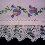 gül motifli dantel çarşaf modeli