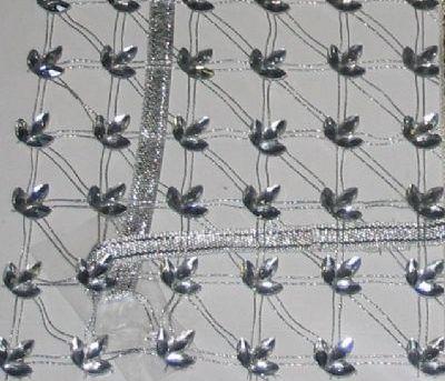 gri boncuk işlemeli kasnak işi salon takımı