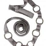gri halkalı örgü kemer modeli