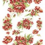 küçük çiçek desenli dekupaj örneği
