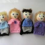 küçük kız figürlü örgü parmak kukla modelleri