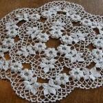 küçük kabarık çiçekli dantel gümüşlük örneği