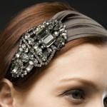 kına yeşili taşlı saç bandı modeli