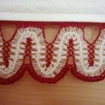 kırmızı beyaz firkete havlu kenarı örneği