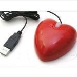 kırmızı kalpli mouse modeli