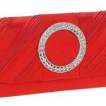 kırmızı taşlı abiye çanta modeli