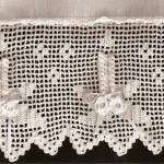 kabarık çiçek desenli dantel çarşaf modeli