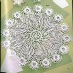 kabarık çiçek motifli şömen tabla modeli
