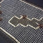 kahverengi çiçekli kasnak işi salon takımı