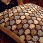 kahverengi örgü kırlent modeli