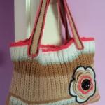 kahverengi selanik örgülü çanta modeli