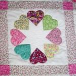 kalp desenli rengarenk patchwork modeli