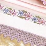 kasnak işi kaneviçe havlu kenarı örneği