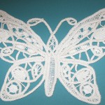 kelebek desenli dantel anglez modeli