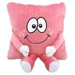 kollu bacaklı pembe peluş yastık modeli