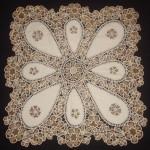 kumaşlarla süslenmiş dantel anglez modeli