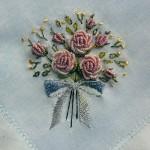kurdale işi demet çiçek kasnak nakışı modeli