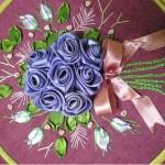 kurdale işi kasnak çiçek modeli