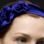 lacivert güllü saç bandı modeli