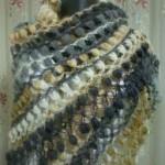 lacivert renkli fıstıklı şal modeli