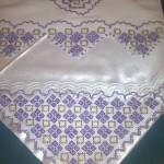 lila renkli dantel bohçası ve havlu örneği
