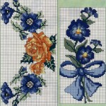 mavi çiçekli etamin modeli