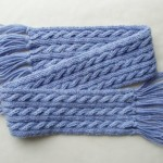 mavi örgü bebek atkısı modeli