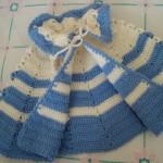 mavi beyaz bebek pelerin modeli