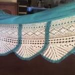 mavi beyaz dantel çarşaf modeli