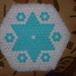 mavi beyaz yıldızlı kasnak lif modeli