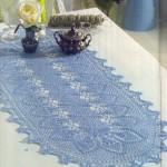 mavi dantel şömen tabla modeli
