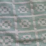 mavi kumaşlı dantel seccade modeli
