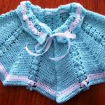 mavi renkli bebek pelerin modeli