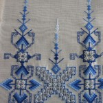 mavi renkli kaneviçe etamin modeli