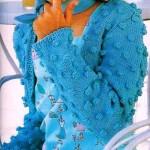 mavi renkli nohut örgülü hırka modeli