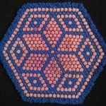 mavi renkli yıldız desenli kasnak lif modeli