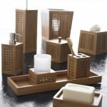 modern bambu banyo seti modeli
