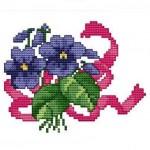 mor menekşe desenli kaneviçe örneği