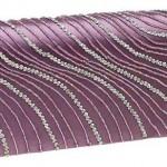 mor renkli taş işlemeli abiye çanta modeli