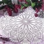 motifli dantel fiskos masa örtüsü örneği