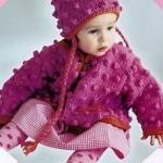 nohut örgülü bebek hırka ve şapka modeli