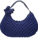 nohut örgülü lacivert çanta modeli