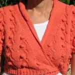 nohut örgülü turuncu bolero örneği