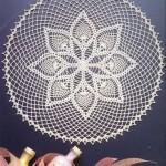 ortası yıldızlı gümüşlük dantel örneği
