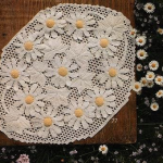 papatya desenli çeyizlik sehpa örtüsü modeli