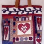kalp desenli patchwork çanta modeli